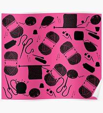 Yarn Pink Poster