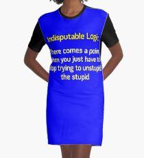 Can't Unstupid Stupid Graphic T-Shirt Dress