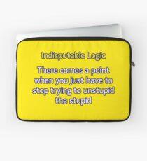 Can't Unstupid Stupid Laptop Sleeve