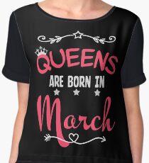 Queens are born in March Chiffon Top