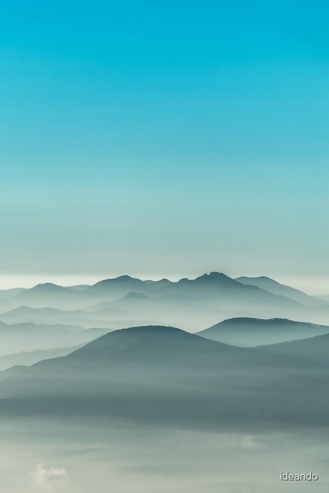 Layers of Blue fog by ideando