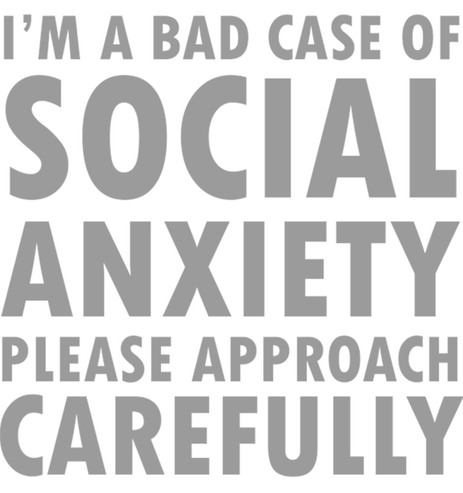 Social anxiety typography by owlishious