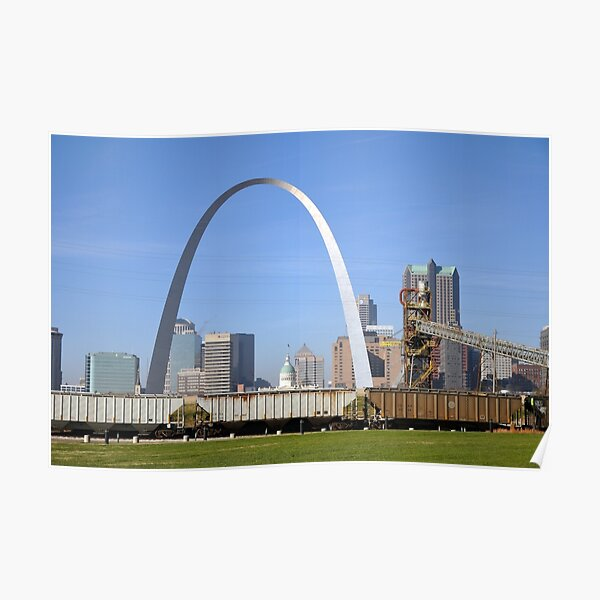 Arch Over Trains Poster