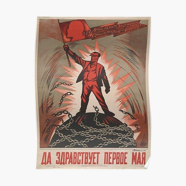 Propagande soviétique - Vive le premier mai! Poster