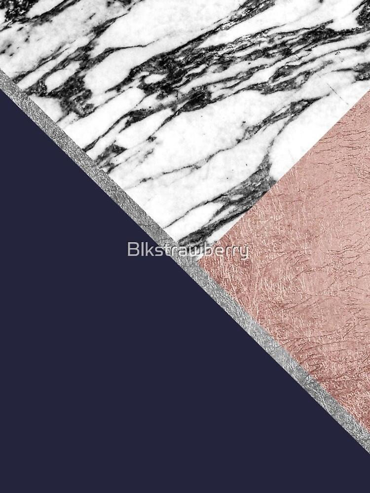Marmor Rose Gold Marineblau Dreieck Geometrisch von Blkstrawberry