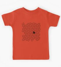 The Missing Piece - Abstract Jigsaw Puzzle Black and White Kids Tee