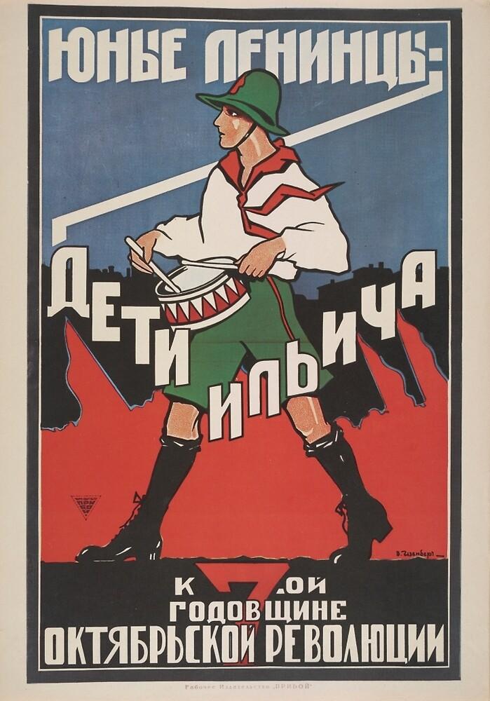 Soviet Propaganda - 7th birthday of the October Revolution by onlypropaganda