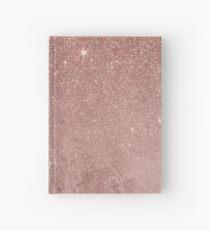 Girly Glam Pink Rose Gold Folie und Glitter Mesh Notizbuch