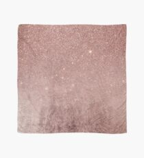 Girly Glam Pink Rose Gold Foil and Glitter Mesh Scarf