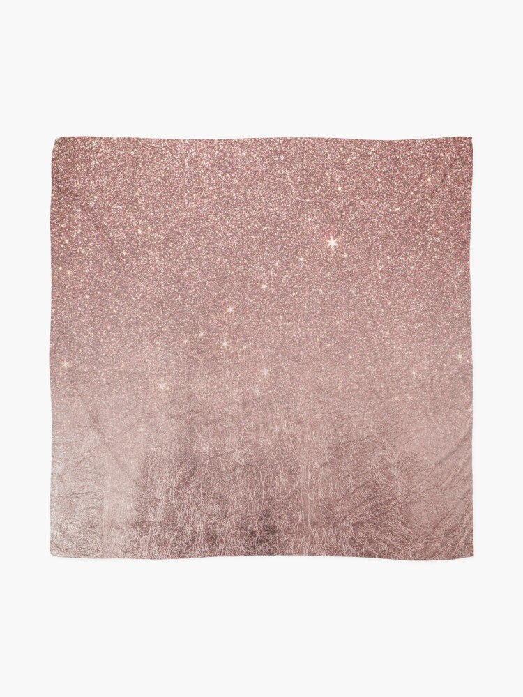 Alternate view of Girly Glam Pink Rose Gold Foil and Glitter Mesh Scarf