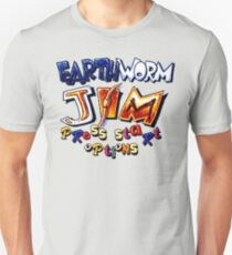Earthworm Jim (SNES Title Screen) Unisex T-Shirt