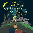 Fireworks and Love Over the City by kjadesign
