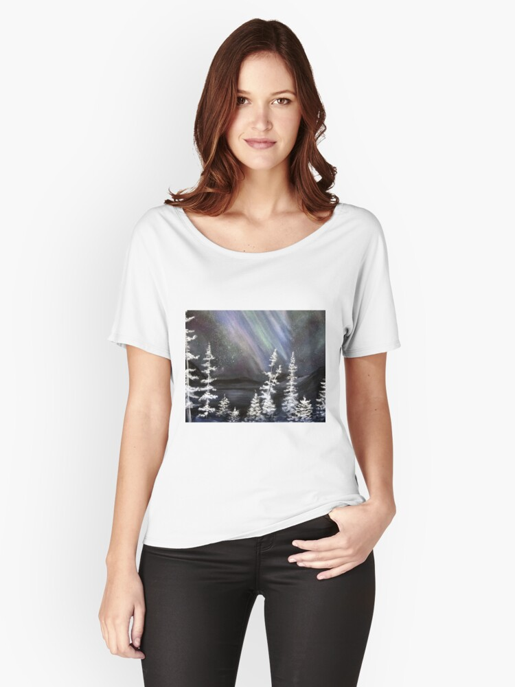 Northern Splendor Women's Relaxed Fit T-Shirt Front