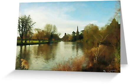 The River In Winter by Mark Salmon