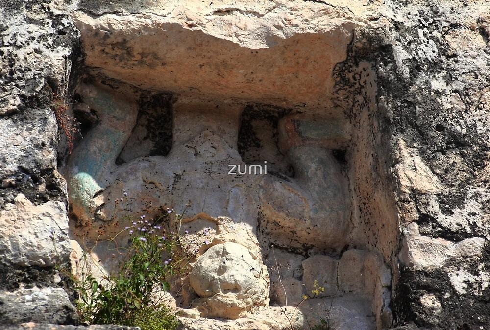 Mayan carvings by zumi
