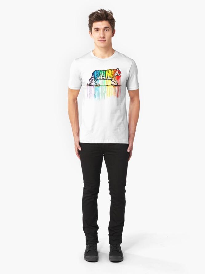 Alternate view of Rainbow Tiger Slim Fit T-Shirt