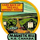 Magnetic Hill New Brunswick Vintage Travel Decal by hilda74