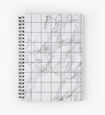 Marble Grid Aesthetic Spiral Notebook
