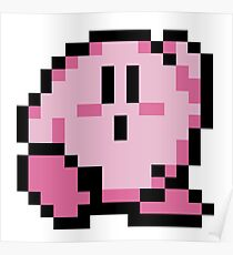 kirby 8 bits Poster