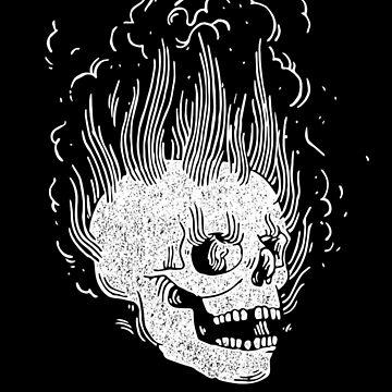 Spooky FlameSkull (efecto vintage) de Doge21