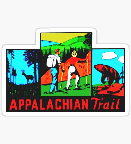 The Appalachian Trail Vintage Travel Decal Sticker