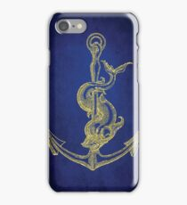 Nautical Vintage Gold Anchor iPhone Case/Skin