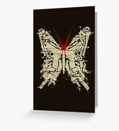 Deadly Species - Butterfly Greeting Card
