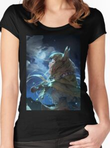 Horo the Wise Wolf Women's Fitted Scoop T-Shirt