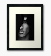 With You Came Silence by vishstudio Framed Print