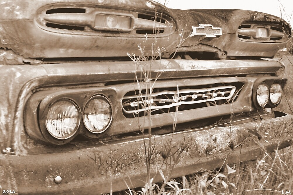 1961 Chevrolet Apache 10 Sepia 2 by LisaWootenPhoto