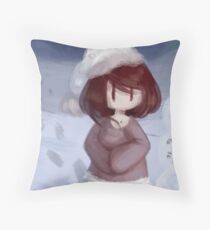 Winter Girl. Throw Pillow