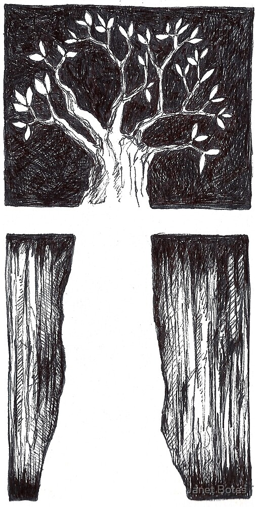 Tree drawing by Janet Botes