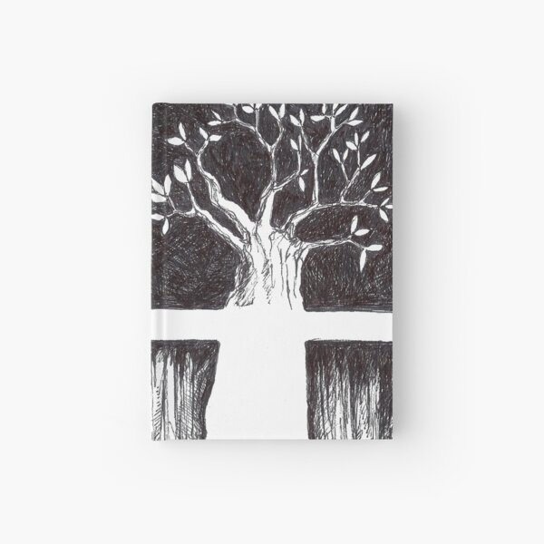Tree drawing Hardcover Journal