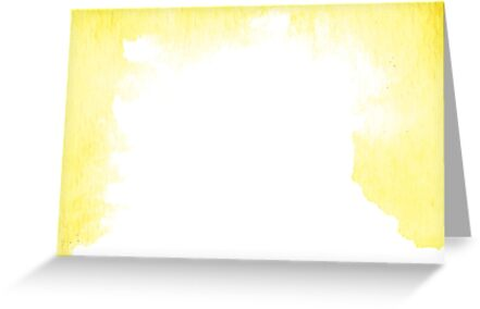 Happy Yellow (Watercolor) by Teresa Blay
