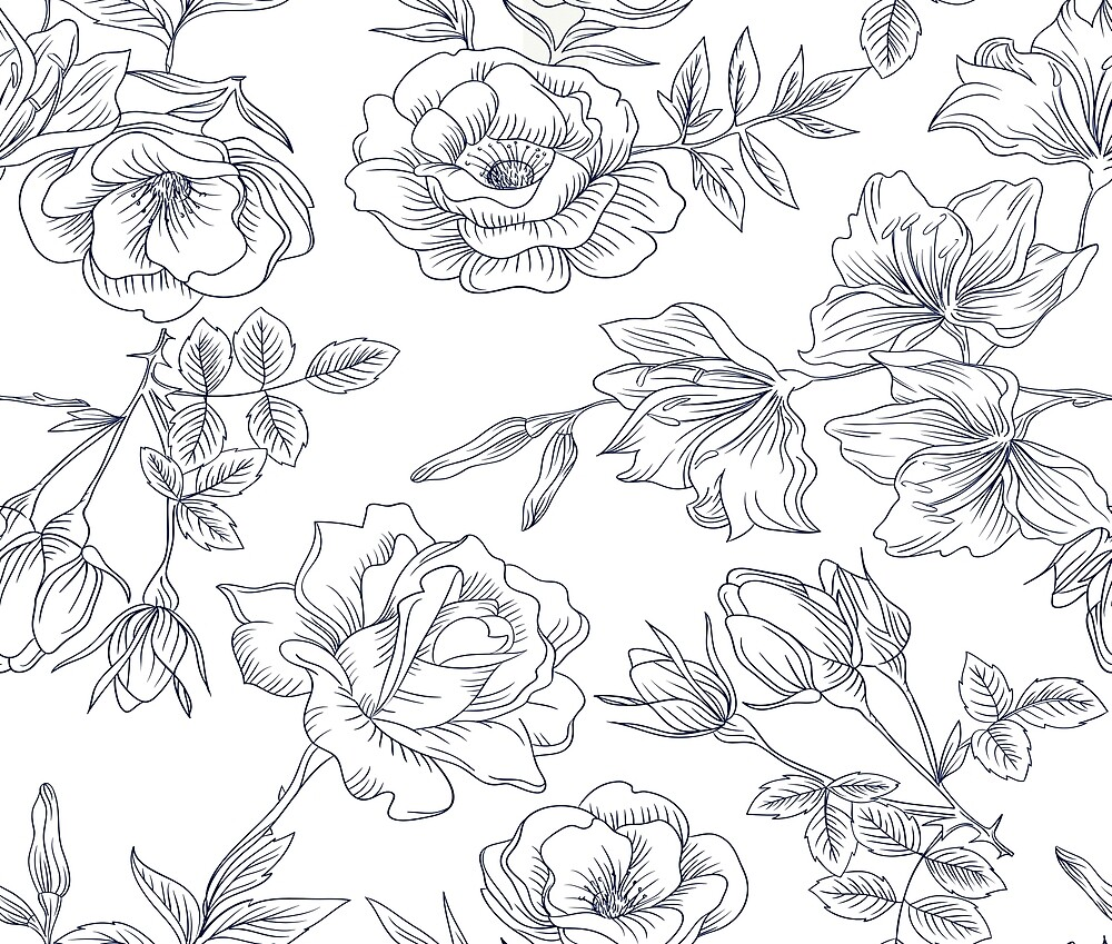 Hand Drawn Floral by ClineDesigns