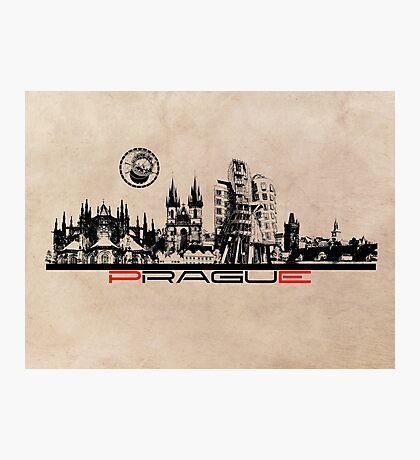 Prague skyline city art Photographic Print