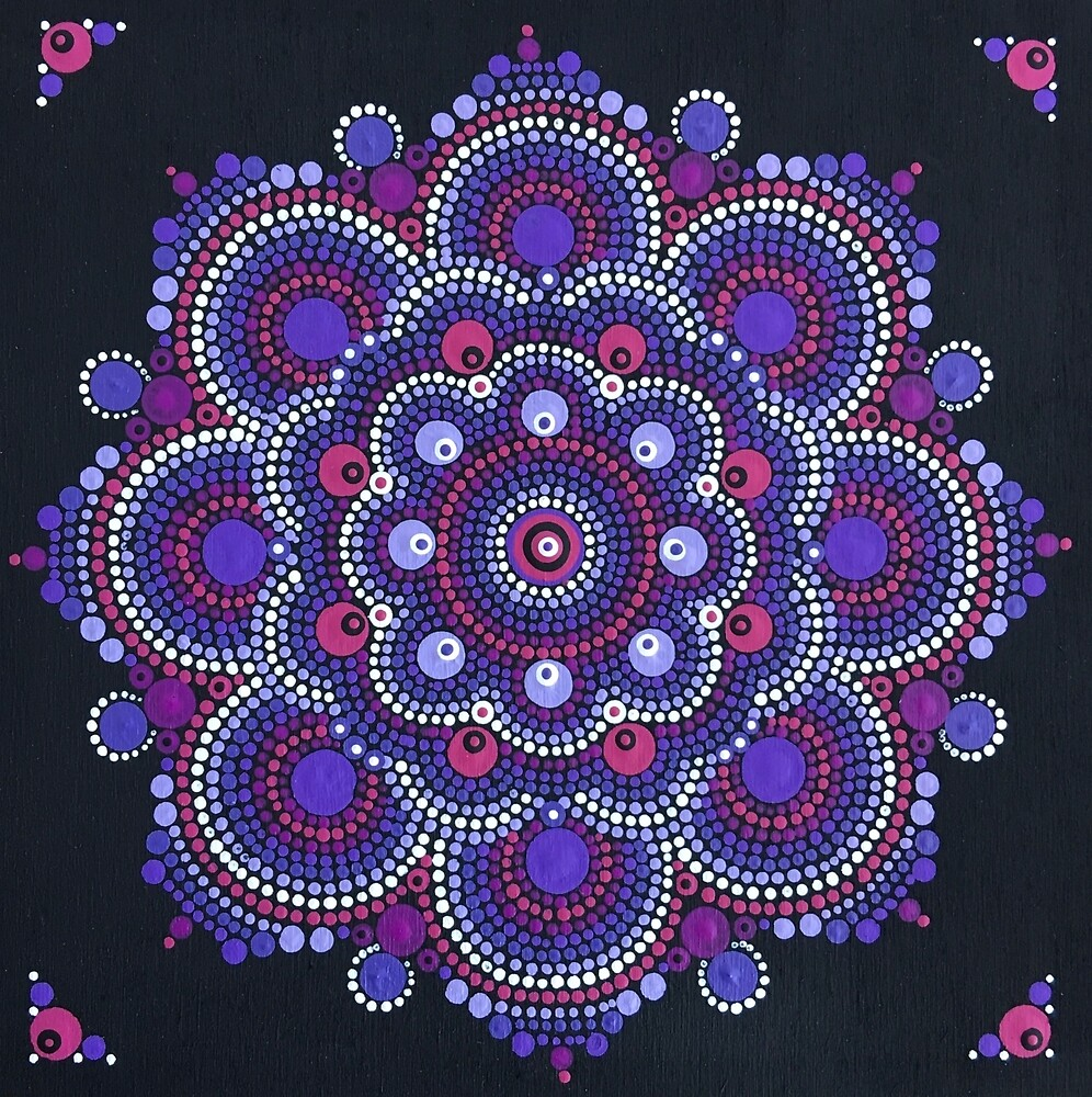 Hyacinth Mandala by smaddockdesigns