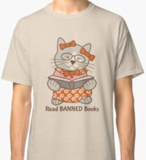 Read Banned Books, cat Classic T-Shirt