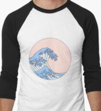 aesthetic wave Men's Baseball ¾ T-Shirt
