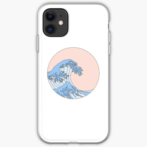 aesthetic wave iPhone Soft Case