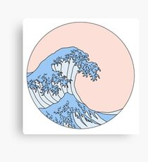 aesthetic wave Canvas Print