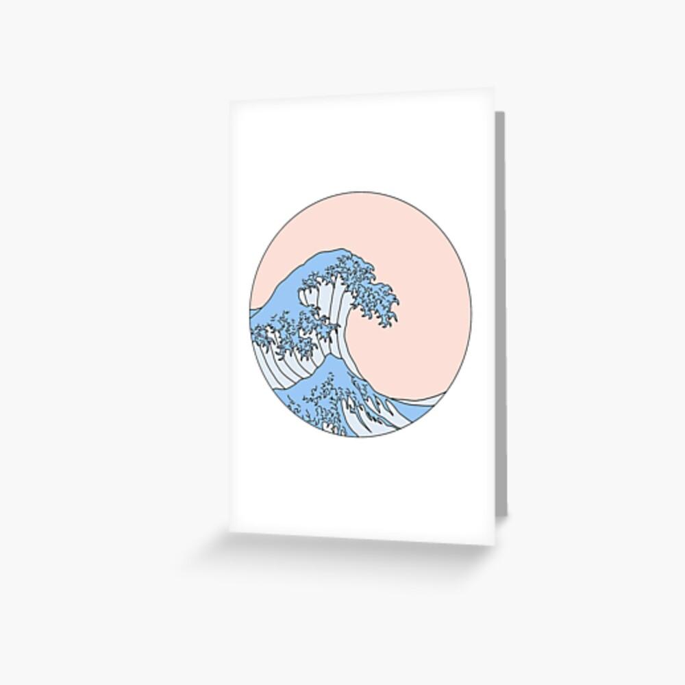ästhetische Welle Grußkarte