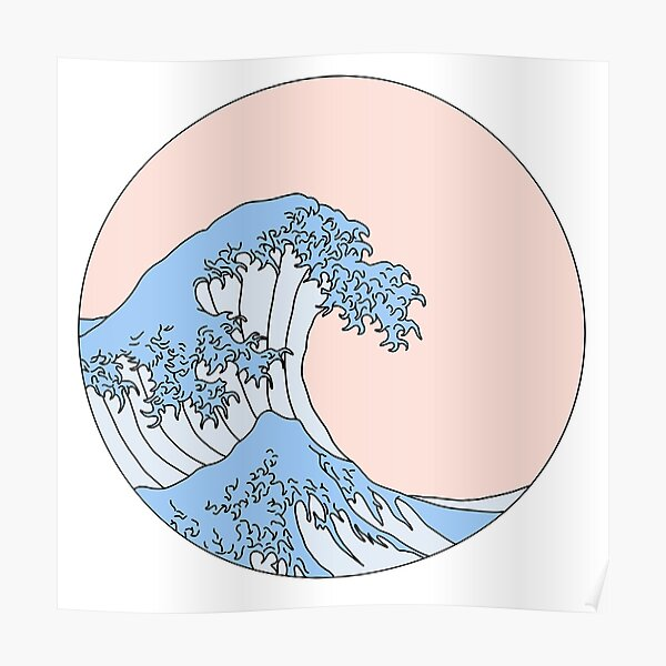 aesthetic wave Poster