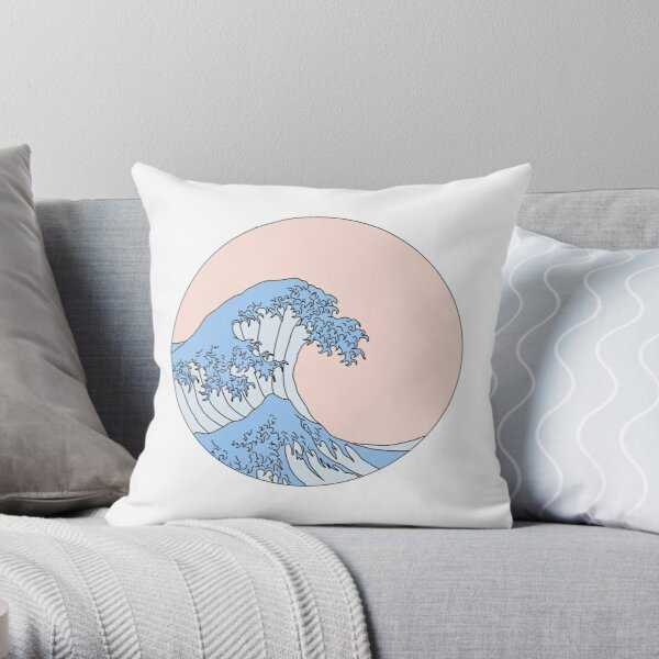 aesthetic wave Throw Pillow