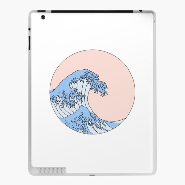 aesthetic wave iPad Skin