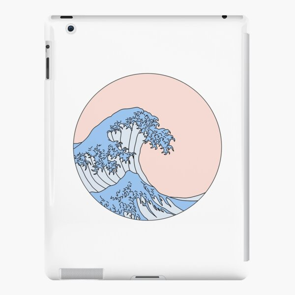 aesthetic wave iPad Snap Case