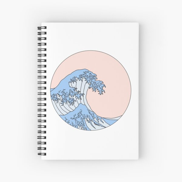 aesthetic wave Spiral Notebook