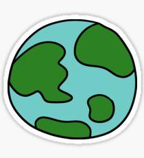 Cartoon Earth Sticker