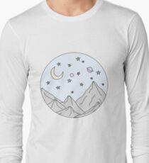 sky mountain scene Long Sleeve T-Shirt