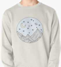 Himmel Bergszene Sweatshirt